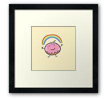 Unicorn donut Framed Print