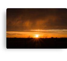 Beaming Sunset Canvas Print