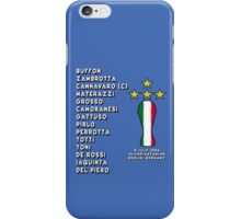 Italy 2006 World Cup Final Winners iPhone Case/Skin