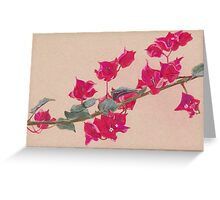Bougainvillea Floral Design Greeting Card