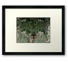 The wild garden Framed Print