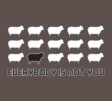 Black sheep - everybody is not you Baby Tee