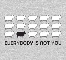 Black sheep - everybody is not you One Piece - Long Sleeve