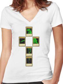 O Shiz wut up (no copyright plz) Women's Fitted V-Neck T-Shirt