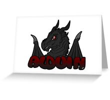 Alduin Badge Greeting Card