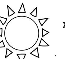 Little Galaxy: Black and White Sticker