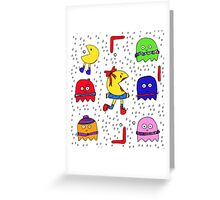 Winter game Greeting Card