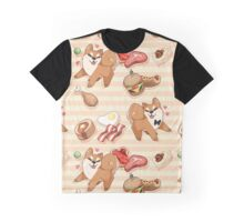 Tileable Shiba - orange Graphic T-Shirt