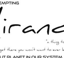 Planet Miranda Sticker