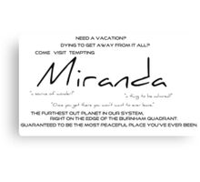Planet Miranda Canvas Print