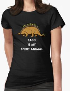 Taco is my Spirit Animal Womens Fitted T-Shirt