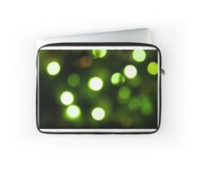 Green Light Bokeh Laptop Sleeve