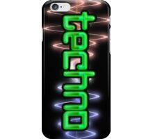 Techno Wave iPhone Case/Skin