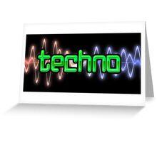 Techno Wave Greeting Card