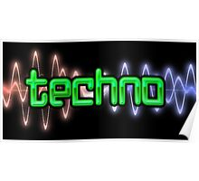 Techno Wave Poster