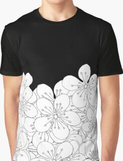 Cherry Blossom Boarder Graphic T-Shirt