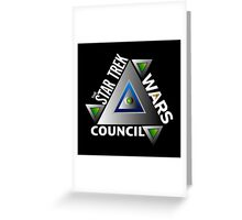 Star Trek Wars Council Logo Greeting Card