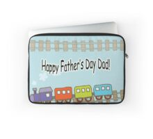 Happy Father's Day Train Laptop Sleeve