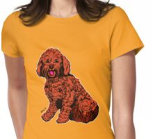 Labradoodle Illustration  Womens Fitted T-Shirt