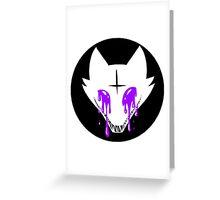 Pastel Goth Fox Greeting Card