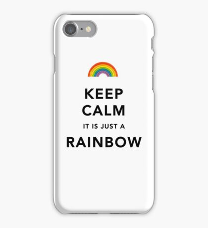 Keep Calm Rainbow iPhone Case/Skin