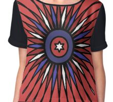 Patriotic Burst Chiffon Top