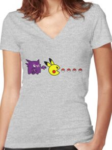 Pika Pika Pika Women's Fitted V-Neck T-Shirt