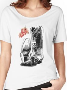 Wicked Boots Women's Relaxed Fit T-Shirt