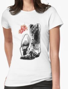 Wicked Boots Womens Fitted T-Shirt