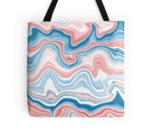 Red/Blue Marble Tote Bag