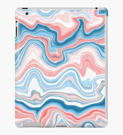 Red/Blue Marble iPad Case/Skin