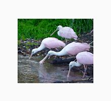 Trio of Drinking Spoonbills Unisex T-Shirt