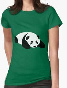 Sleepy Panda Womens Fitted T-Shirt