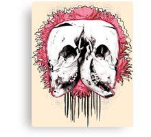 Double Cow Skull Canvas Print