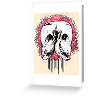 Double Cow Skull Greeting Card