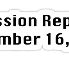 Mission Report December 16, 1991 Sticker