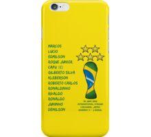 Brazil 2002 World Cup Final Winners iPhone Case/Skin