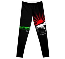 Black JDM logo Leggings