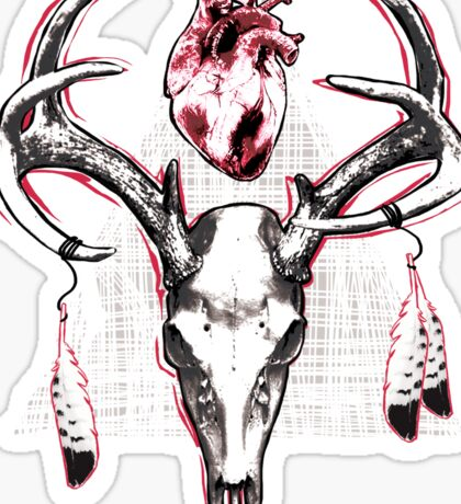 Heavy Heart Deer Antlers Sticker