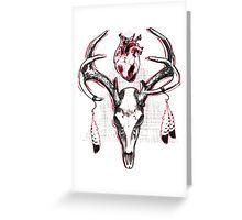 Heavy Heart Deer Antlers Greeting Card