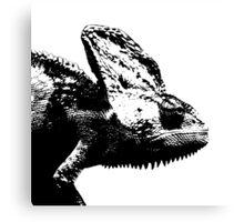 Chameleon Black Canvas Print