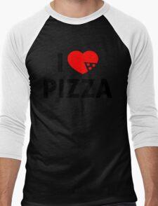 I Love Pizza Men's Baseball ¾ T-Shirt
