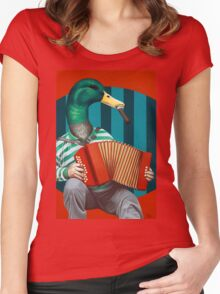 Accordion To This Women's Fitted Scoop T-Shirt