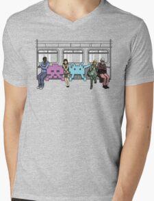 Space Invasion Mens V-Neck T-Shirt