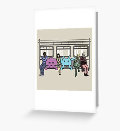 Space Invasion Greeting Card
