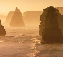 Apostles at dusk by Hans Kawitzki