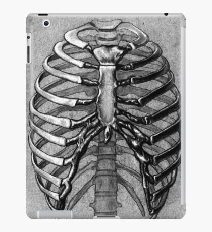 Black and White Skeleton Rib Cage iPad Case/Skin