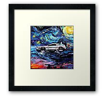 Pop Culture Mashup - Back to Van Gogh  Framed Print