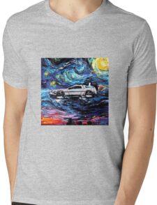 Pop Culture Mashup - Back to Van Gogh  Mens V-Neck T-Shirt