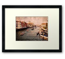 The City of Canals Framed Print